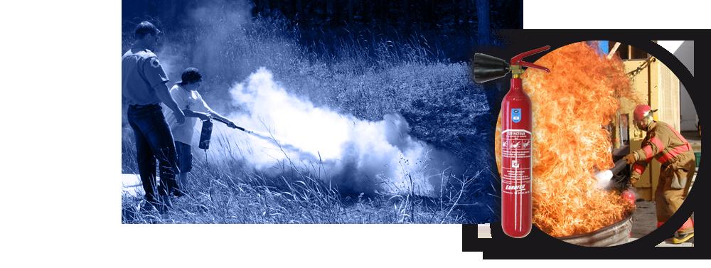 Bandeau extinteurs pour éteindre le feu