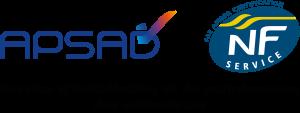 Logo Apsad et NF service